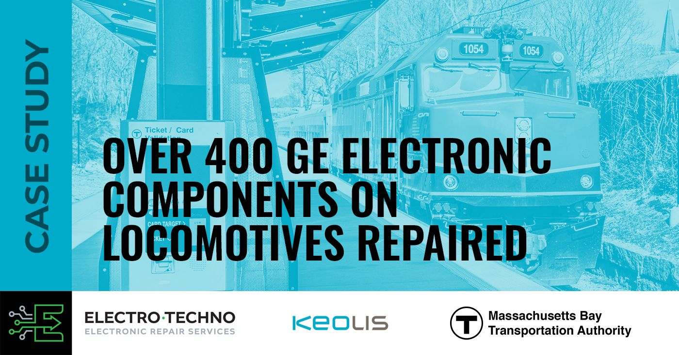 Over 400 GE electronic components on locomotives repaired